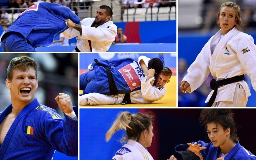 Trío de bronce en Judo belga