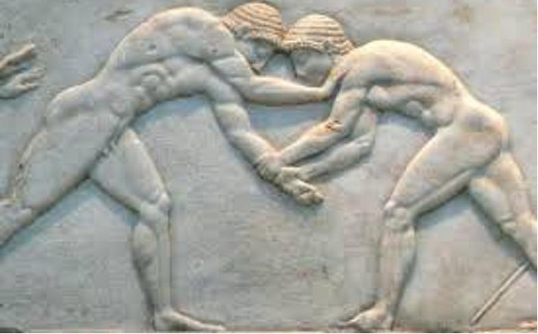 La lucha libre en los antiguos Juegos Olímpicos